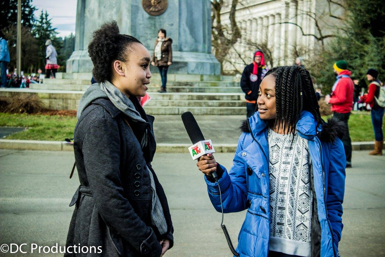 Thandi Chirwa interviews Kent Black Action Commission Youth at the Washington State Capital